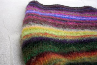 Felted Noro Scraps Bag | by Twisted Knitter