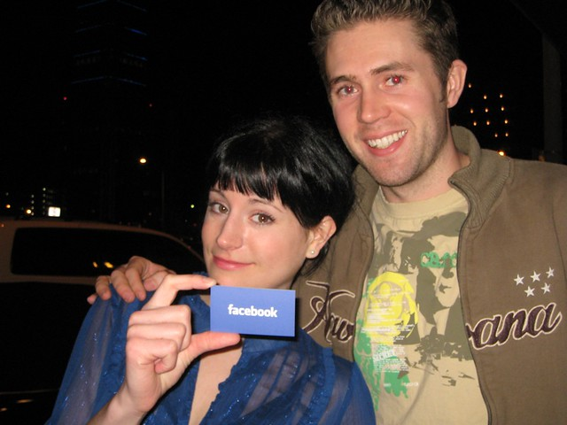 Kelly And Jon With Mark Zuckerbergs Business Card Flickr