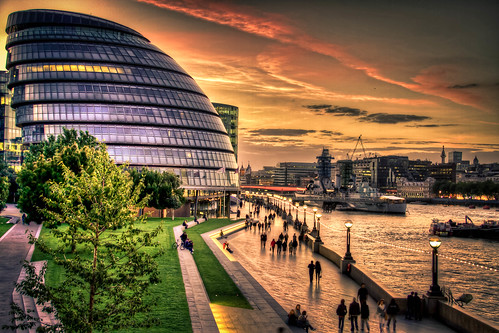 Late Sunset City Hall and Thames. | by aparticulate