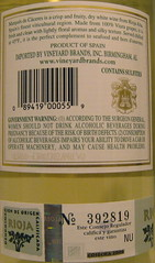 Marques de Caceres 2006 White Rioja (back) | by 2 Guys Uncorked