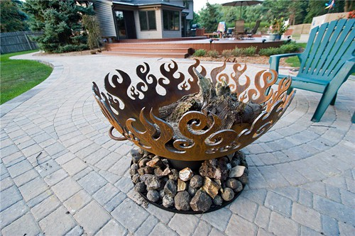 37 inch Great Bowl O Fire firepit on paved patio | by john t unger
