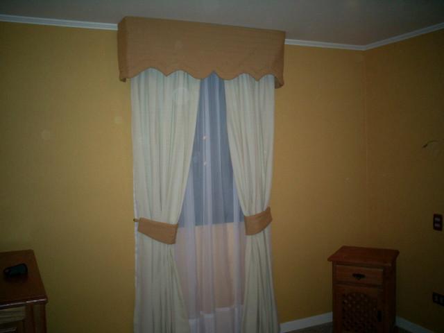 Cortina cenefa cortina para salas living comedor for Cortinas de tela para living