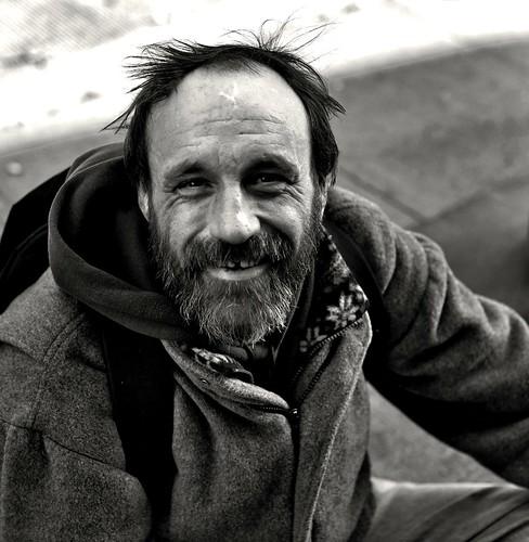 Smiling Homeless Guy (Sitting on Sidewalk) | I gave him ...