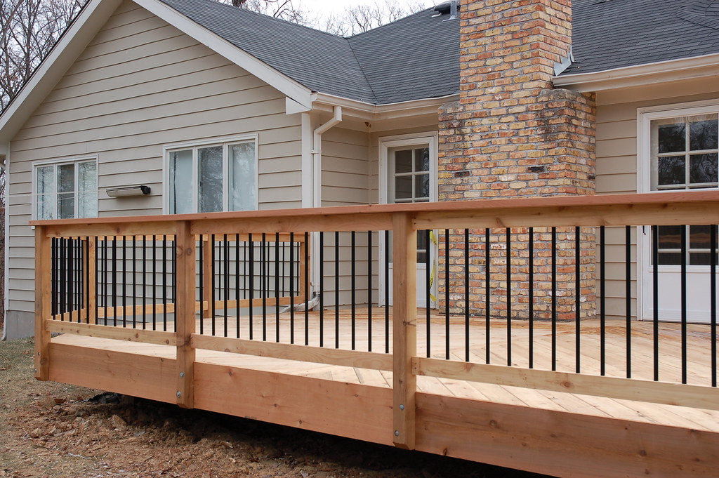 Chesterfield - Cedar Decking and Railing with Aluminum Bal ...