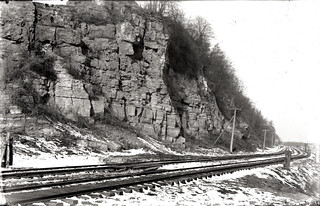 Railroad track and cliff | by Special Collections & University Archives (ISU)
