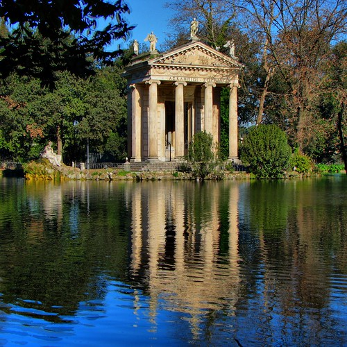 Temple of Asclepius, Villa Borghese Gardens, Rome | by winninator