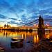 Day 87:  Hammersmith Bridge at Twilight