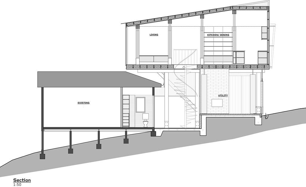 House on stilts design by Austin Maynard Architects in Australia Sundeno_22