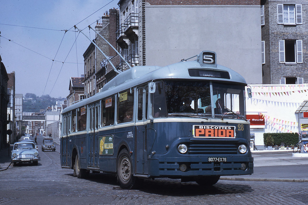 jhm 1968 0415 le havre trolleybus chausson jean henri manara flickr. Black Bedroom Furniture Sets. Home Design Ideas