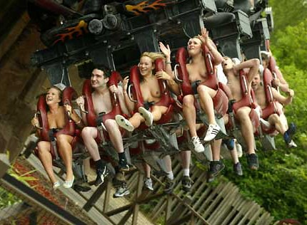 Naked rollercoaster, adult racing games
