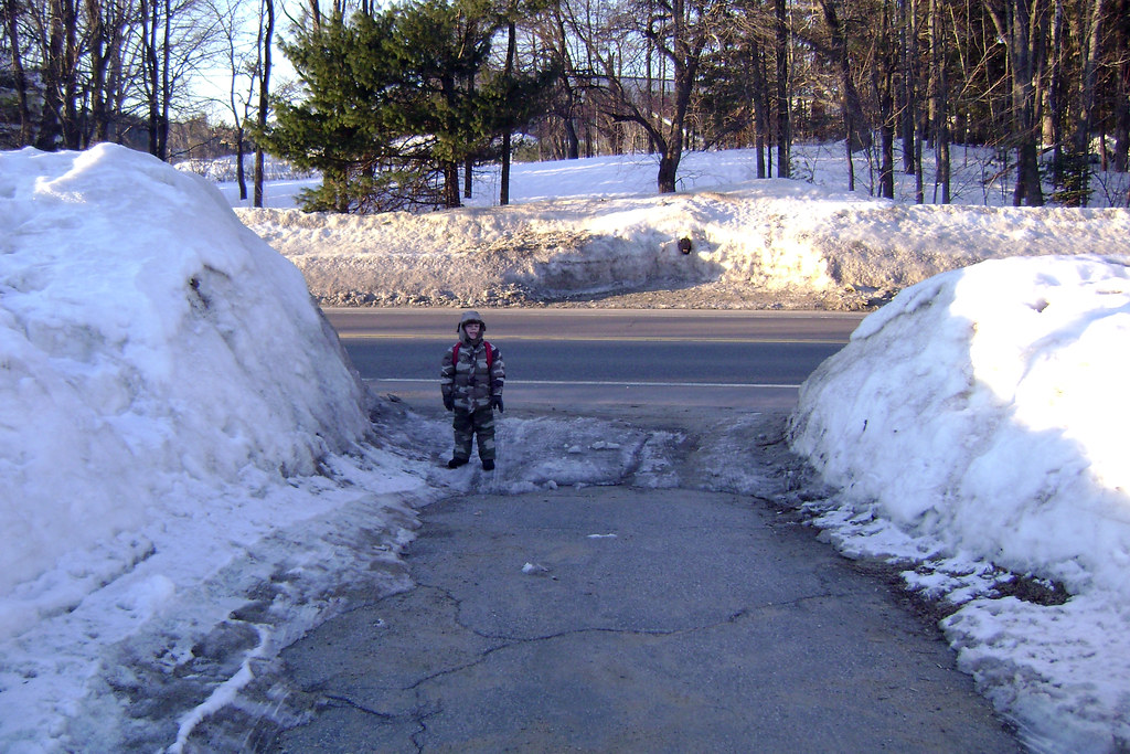 Snow Banks with Reference | Jared waiting for the bus at ...