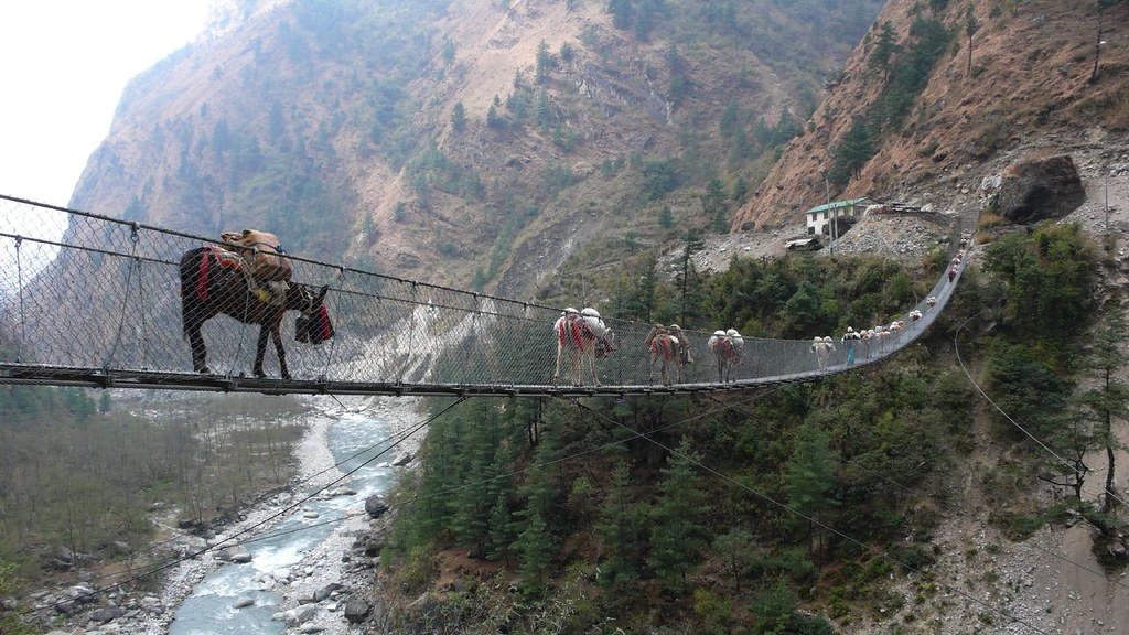 hanging bridge near Ghasa