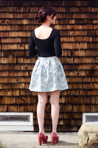 Pleated brocade skirt | by peneloping