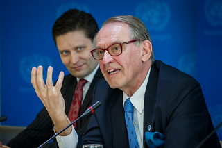 Deputy UN Secretary General Jan Eliasson with the UN staff in Montenegro | Photo: Miloš Vujović | by United Nations in Montenegro