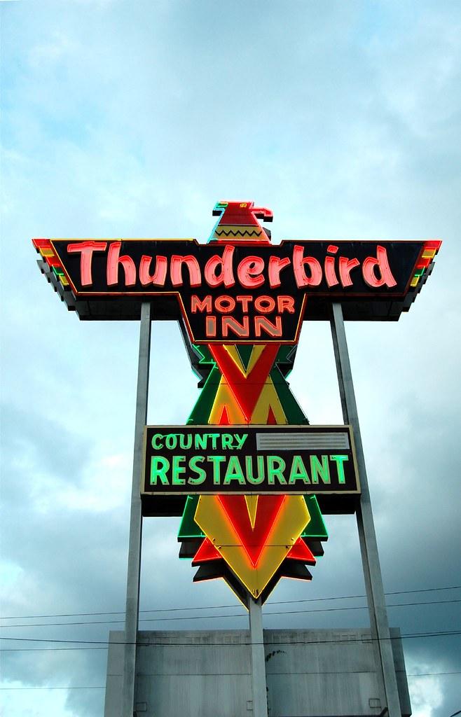 Thunderbird Motor Inn Florence Sc Thunderbird Sign At