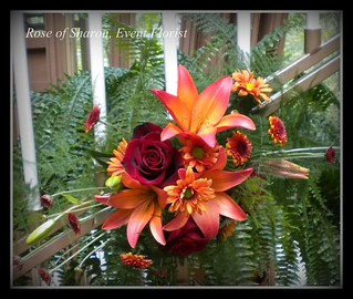 Candelabra: Fall mix (close up) #1a | by Rose of Sharon Floral Designs