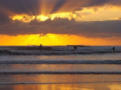 Surfer sunset Bantham | by tramsteer