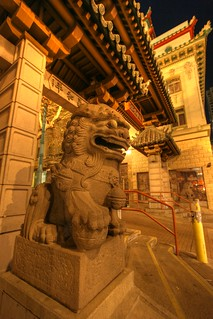 guardian @ the Chinatown gate (10426-10428 HDR) | by seanhoyer