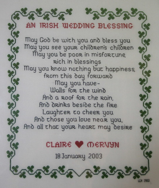 Wedding Blessings Photography: Wedding Sampler Cross-stitch