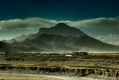 A Mountain on the way from Tingri to Everest basecamp. Tibet. | by rosskevin756