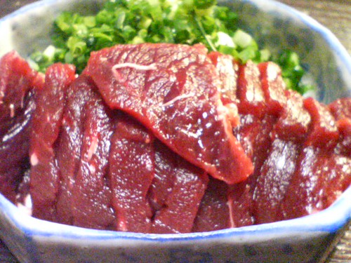 Raw whale meat (sashimi) | by Fuyuhiko