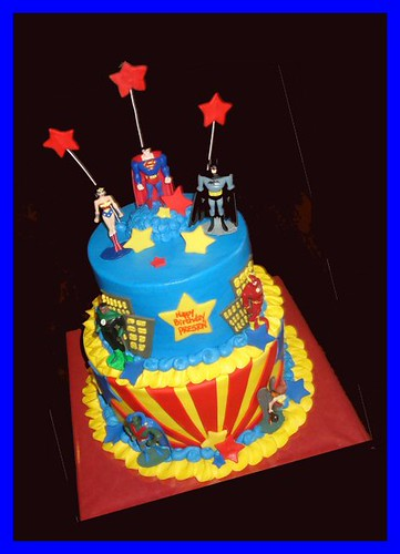 Justice League Cake For Preston Atasteofwhimsy Flickr