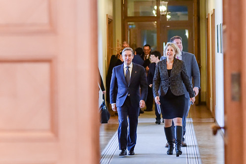 Ministru Prezidenta Māra Kučinska tikšanās ar Kanādas ārējās tirdzniecības ministru Fransuā Filipu Šampaņu