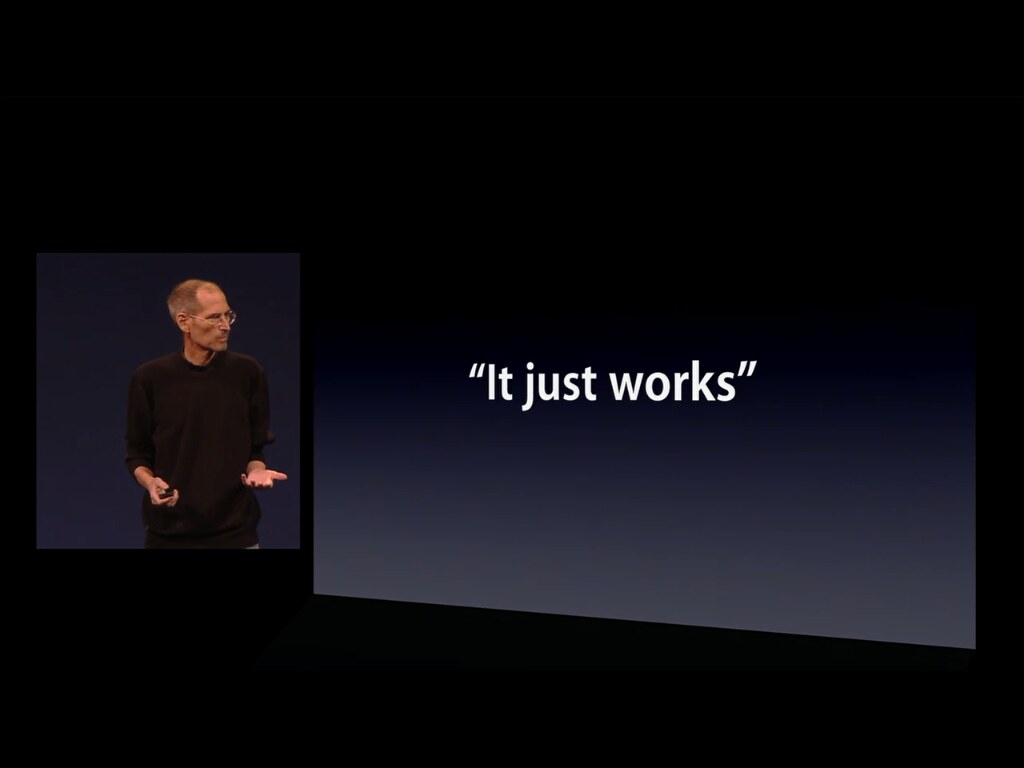 it just works steve jobs keynote wwdc 2011 events apple flickr