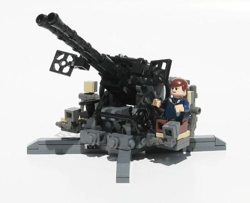 Из лего пушки