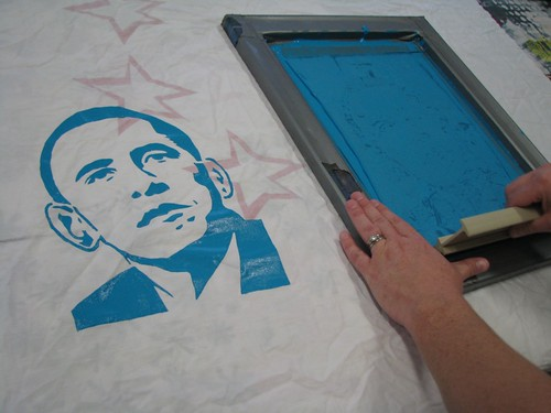 Printing Barack Obama Stencil | by average_jane_crafter