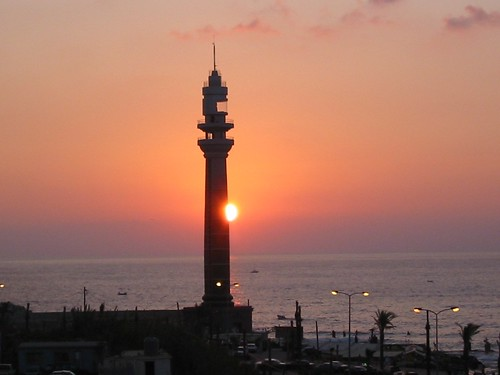 Beirut lighthouse Sunset | by elsaidst