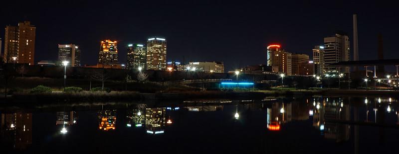 Birmingham from Railroad Park