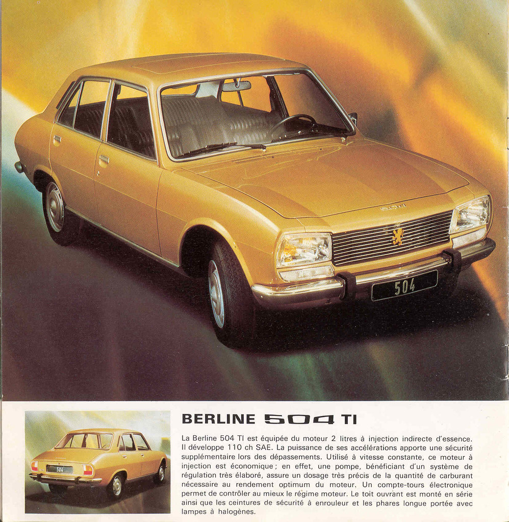peugeot 504 ti 1975 injection directe 104 hp at 5400 tr flickr. Black Bedroom Furniture Sets. Home Design Ideas