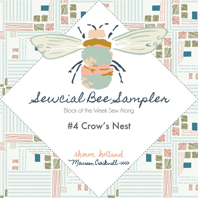 The Sewcial Bee Sampler Block No. 4: Crow's Nest