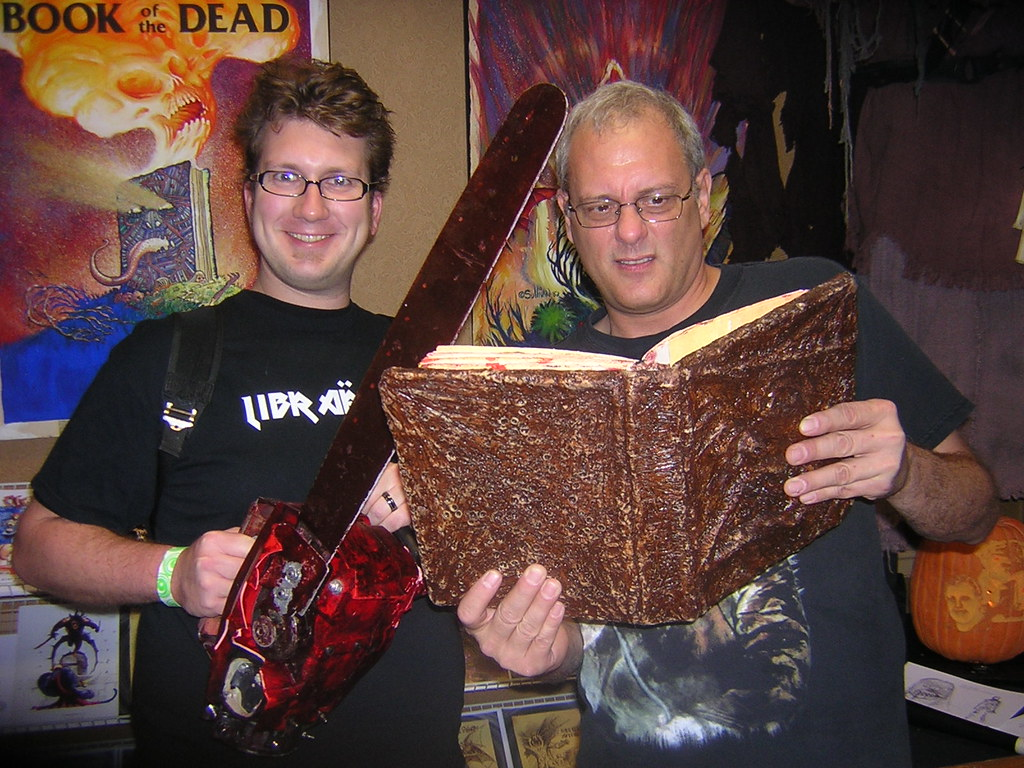 Me and Tom Sullivan | Tom's checking out The Book of the Dea