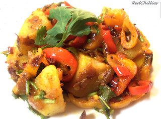 Potato Pepper Sabzi | by .redchillies