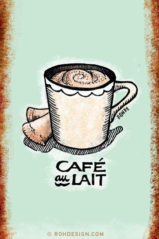 Cafe Au Lait And Old Blue
