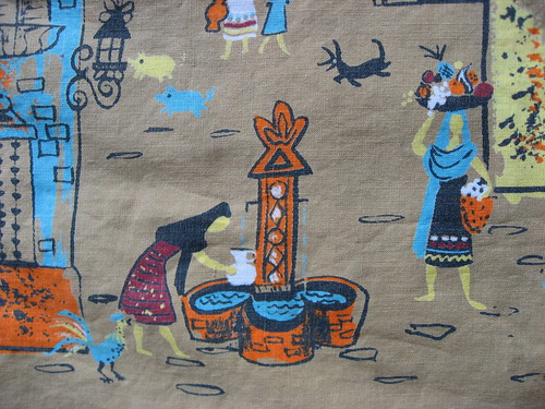 Mexican Village ~ novelty print | by JoulesVintage