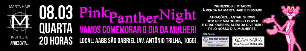 Anúncio Pink Panther Night