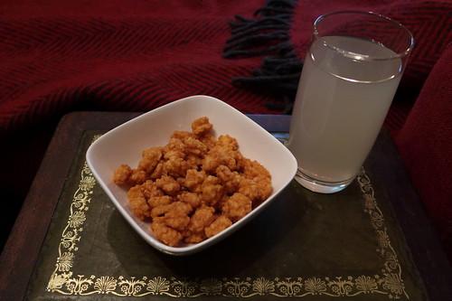 Mini Reiscracker und Lychee-Saft
