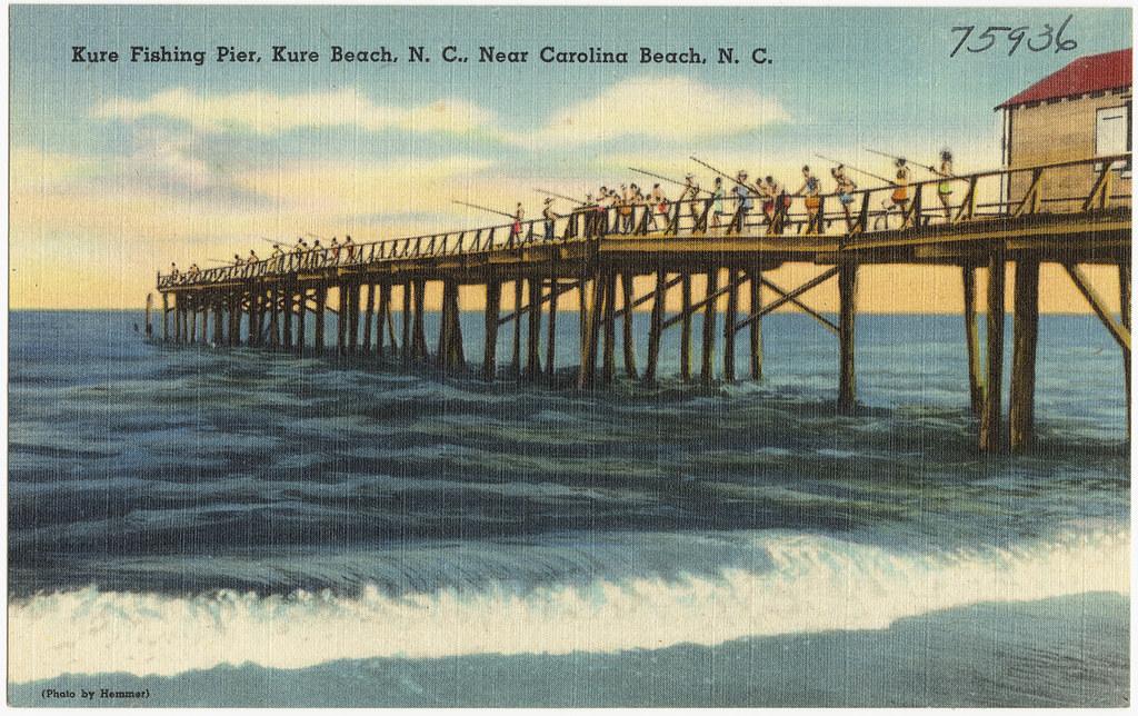 Kure fishing pier kure beach n c near carolina beach for Fishing piers near me
