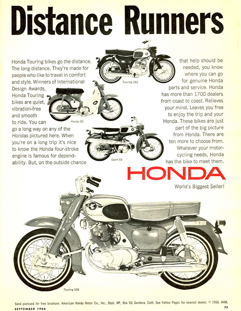 vintage honda motorcycle ads. 1966 honda motorcycles by twm1340 vintage motorcycle ads