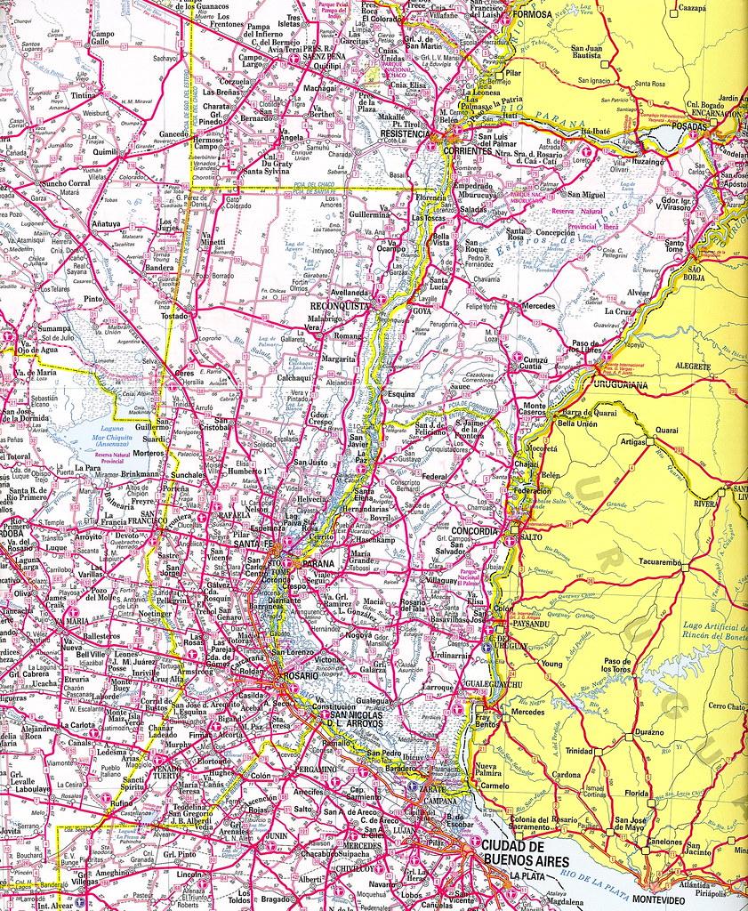 Mapa de rutas argentinas (edición 2005); mapa de rodovias ...
