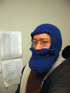 Blue Beard Hat, crocheted | by Thirteen Of Clubs