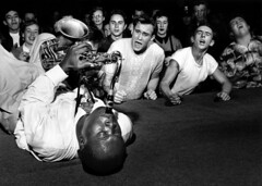 Big Jay McNeely playing on his back, Los Angeles, 1951 | by Bob Willoughby