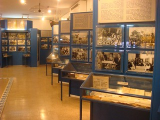 Display cases in the Museum of Libyan Jews Or Yehuda | by dlisbona