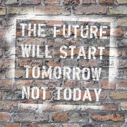 The future will start tomorrow, not today | by Dappers