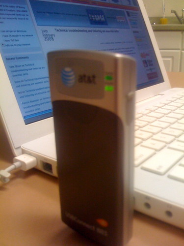AT&T Sierra Wireless USB Laptop Connection Card on my MacBook | by Wesley Fryer