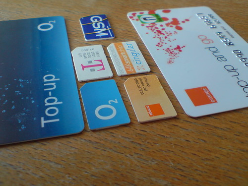 SIM cards and Top-up cards | by kalleboo