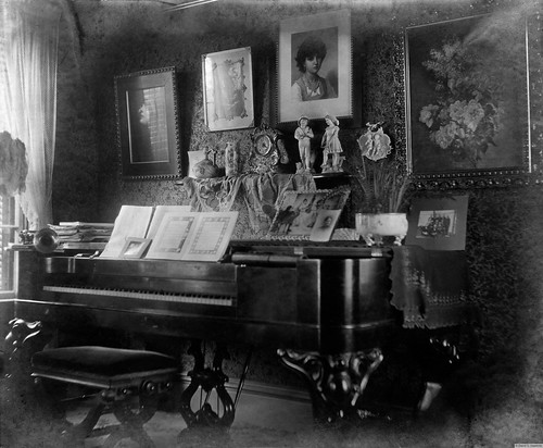 Late Victorian Piano Parlor Photo By My Grandfather